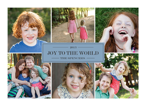 Joy To The World custom holiday photo card | Muddy Paws Graphics
