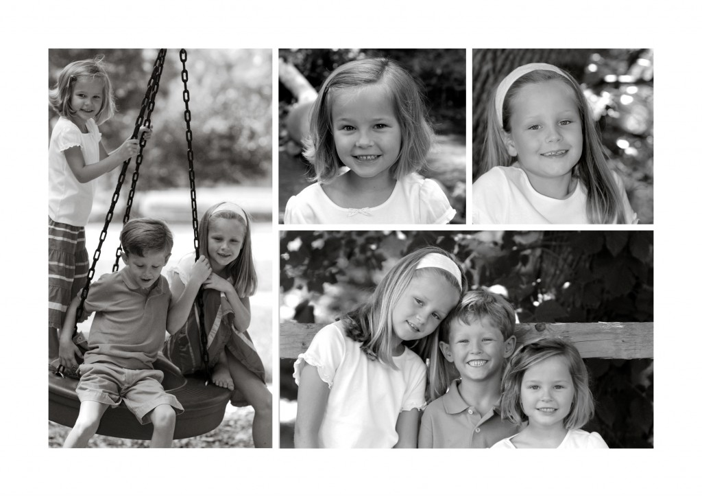 collage photo card using five photos printed on ultra-thick cover stock | Muddy Paws Graphics