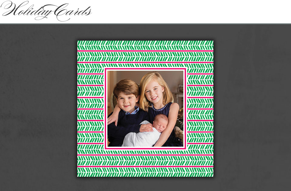 square holiday photo card