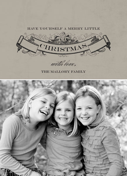 Have Yourself A Merry Little Christmas custom photo card
